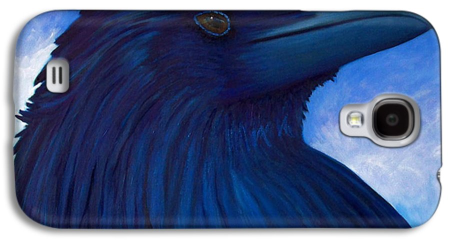 Raven Galaxy S4 Case featuring the painting Heaven Bound by Brian Commerford