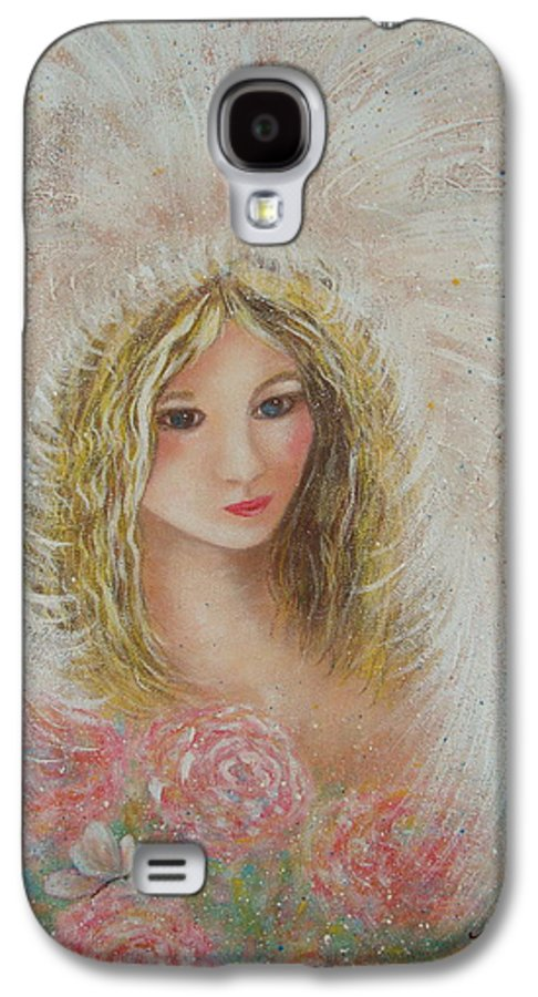 Angel Galaxy S4 Case featuring the painting Heavenly Angel by Natalie Holland