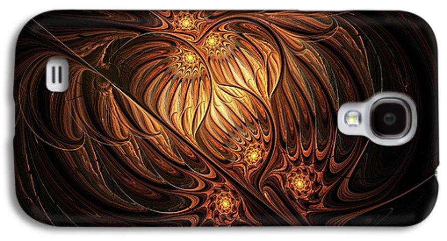 Digital Art Galaxy S4 Case featuring the digital art Heavenly Onion by Amanda Moore