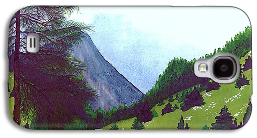 Original Painting Galaxy S4 Case featuring the painting Heidi's Place by Patricia Griffin Brett