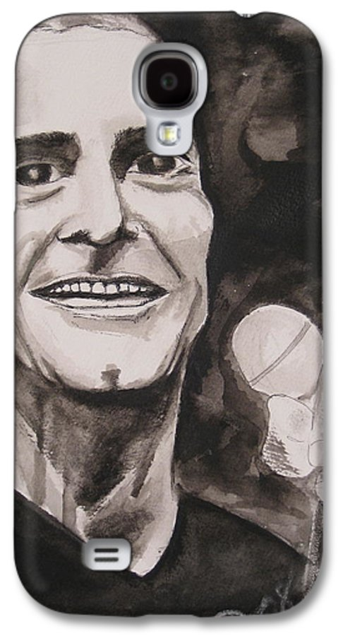 Author Black Darkestartist Flag Henry Ink Musician Panting Portrait Rollins Spoken Watercolor Darkest Artist Galaxy S4 Case featuring the painting Henry Rollins by Darkest Artist