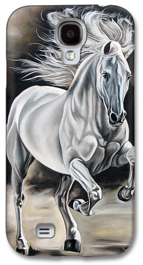 Horse Galaxy S4 Case featuring the painting Hereje by Ilse Kleyn