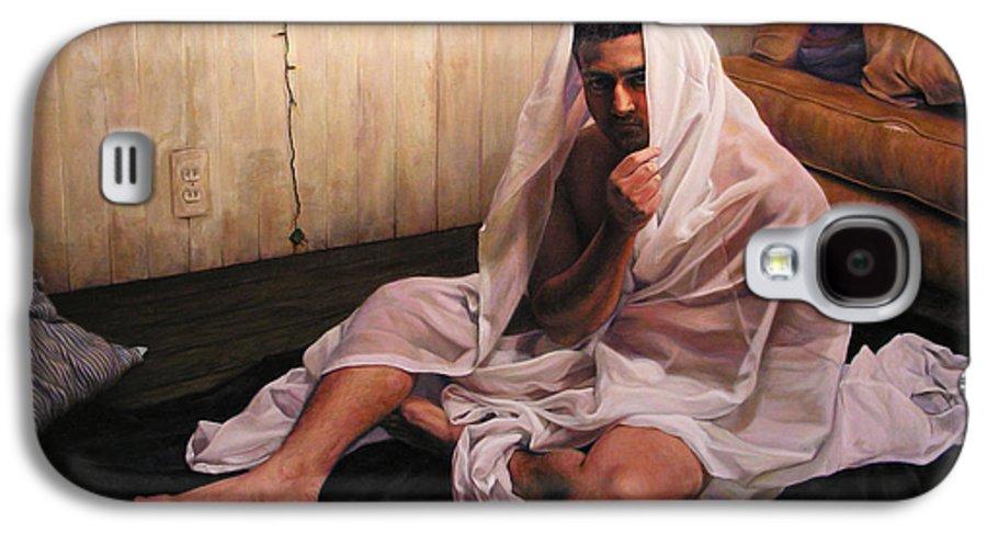 Hermit Galaxy S4 Case featuring the painting Hermit by Joe Velez