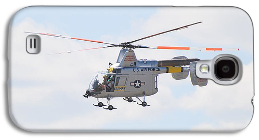 Helicopter Galaxy S4 Case featuring the photograph Hh-43b Huskie by Larry Keahey