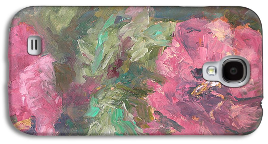 Oil Galaxy S4 Case featuring the painting Hibiscus by Lou Ewers