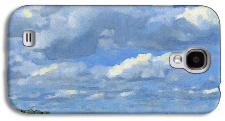 Landscape Galaxy S4 Case featuring the painting High Summer by Bruce Morrison