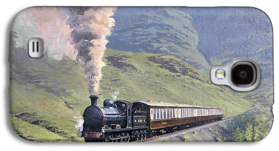 Steam Galaxy S4 Case featuring the painting Highland Steam by Richard Picton