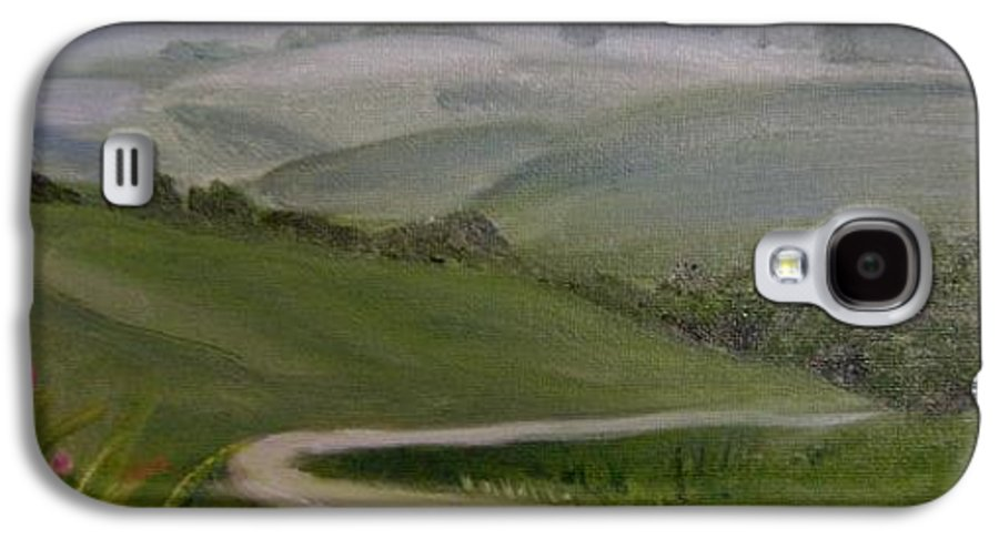 Pathway Galaxy S4 Case featuring the painting Highway Into The Hills by Toni Berry
