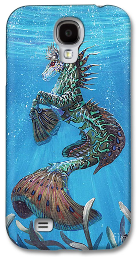 Seahorse Galaxy S4 Case featuring the painting Hippocampus by Stanley Morrison