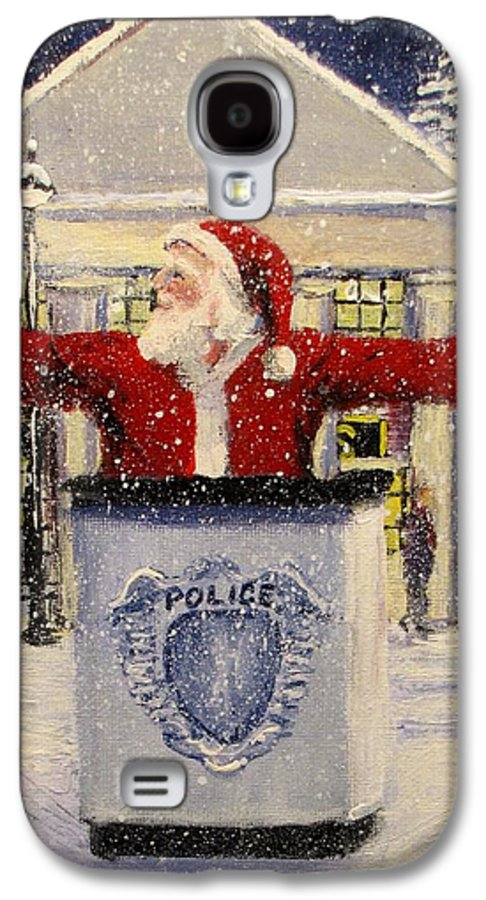 Santa Galaxy S4 Case featuring the painting Ho Ho Go... by Jack Skinner
