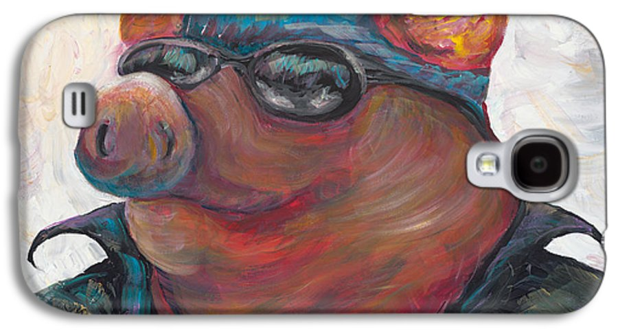 Hog Galaxy S4 Case featuring the painting Hogley Davidson by Nadine Rippelmeyer