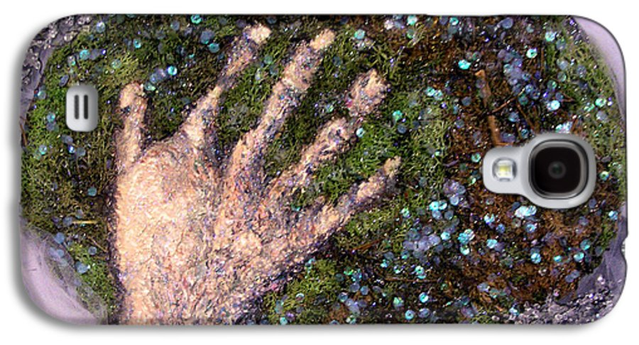 Evocative Espressionism Galaxy S4 Case featuring the mixed media Holding Earth From The Series Our Book Of Common Faith by Stephen Mead