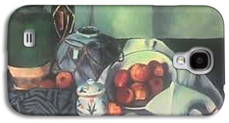 Still Life With Apples Galaxy S4 Case featuring the painting Homage To Cezanne by Steven Casey