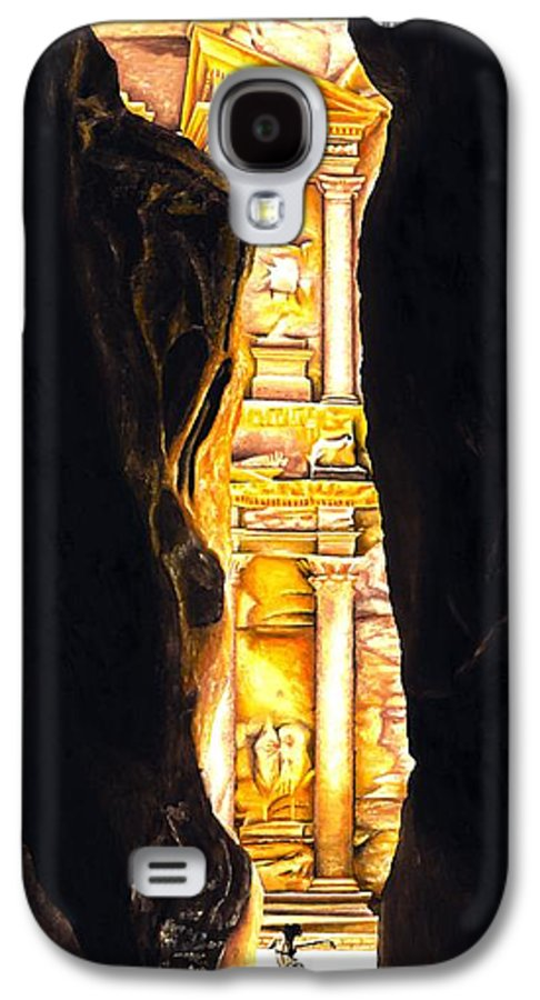 Bellydancer Galaxy S4 Case featuring the painting Homage To Petra by Richard Young