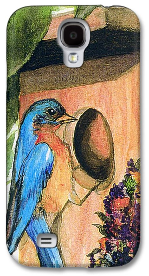 Bluebirds Galaxy S4 Case featuring the painting Home Sweet Home by Gail Kirtz