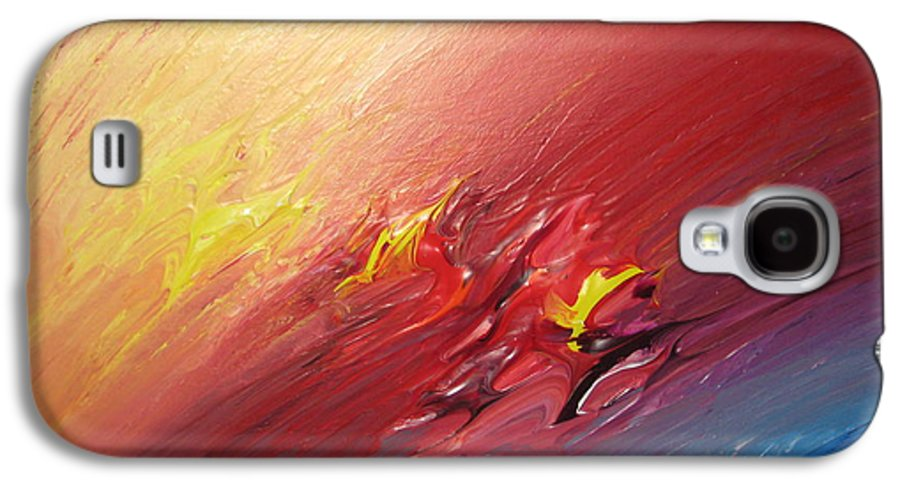 Abstract Galaxy S4 Case featuring the painting Honeymoon Bliss - A by Brenda Basham Dothage