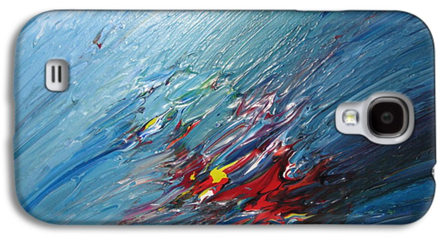 Abstract Galaxy S4 Case featuring the painting Honeymoon Bliss - B by Brenda Basham Dothage
