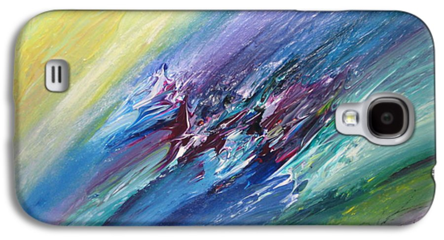 Abstract Galaxy S4 Case featuring the painting Honeymoon Bliss - C by Brenda Basham Dothage