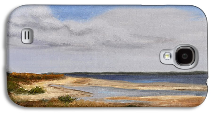 Landscape Galaxy S4 Case featuring the painting Honeymoon Island by Greg Neal