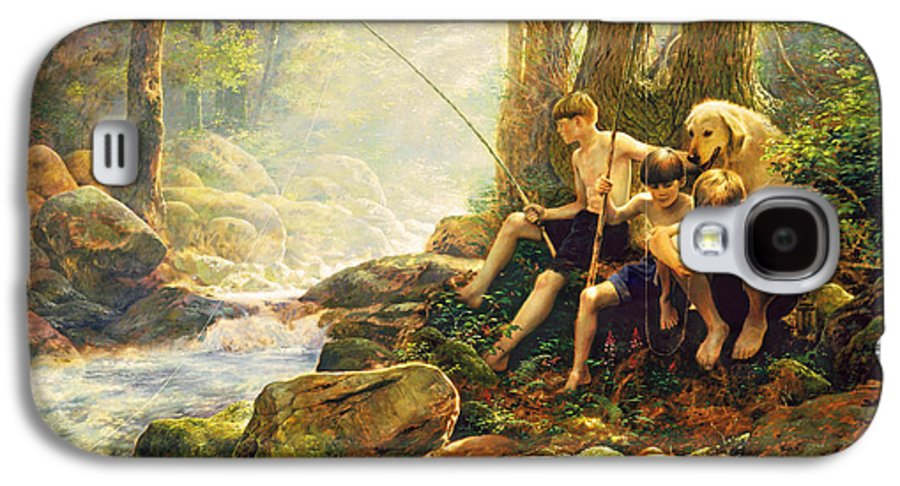 Fishing Galaxy S4 Case featuring the painting Hook Line And Summer by Greg Olsen