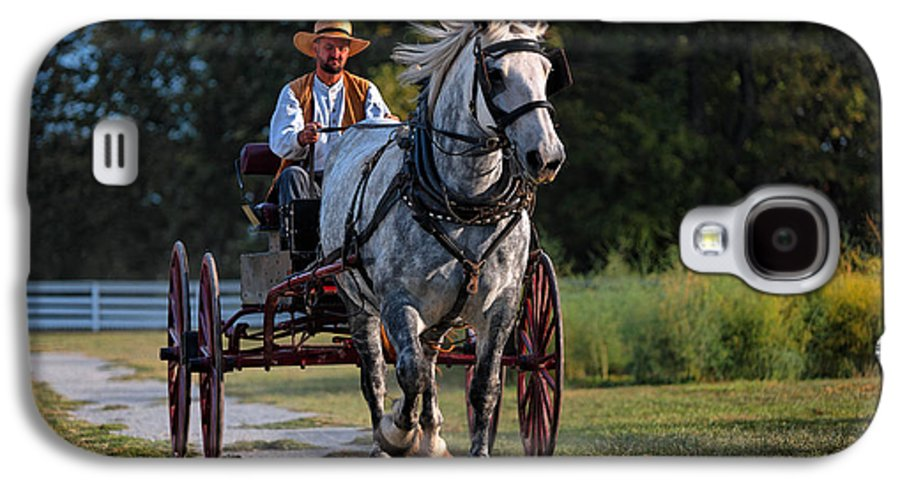 Horse Galaxy S4 Case featuring the photograph Horse And Buggy by Lone Dakota Photography