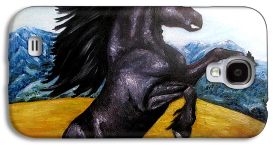 Horse Galaxy S4 Case featuring the painting Horse Oil Painting by Natalja Picugina