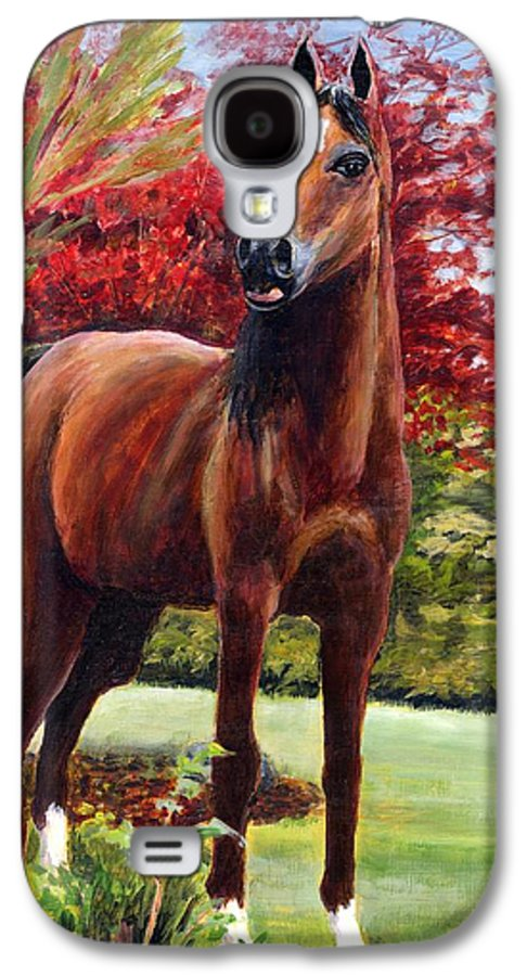 Horse Galaxy S4 Case featuring the painting Horse Portrait by Eileen Fong