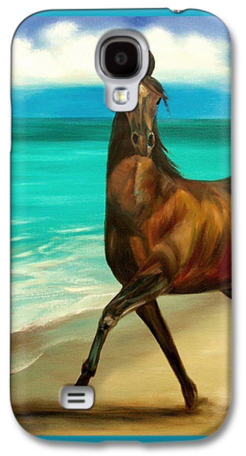 Horse Galaxy S4 Case featuring the painting Horses In Paradise Dance by Gina De Gorna