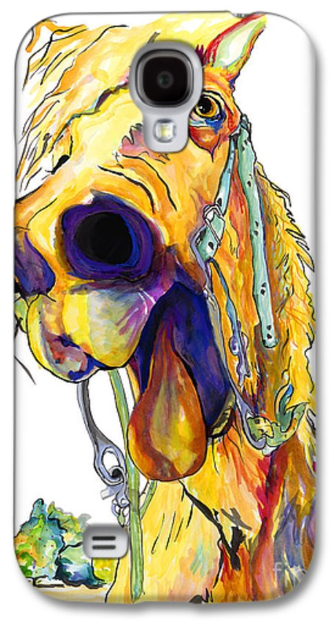 Animal Painting Galaxy S4 Case featuring the painting Horsing Around by Pat Saunders-White