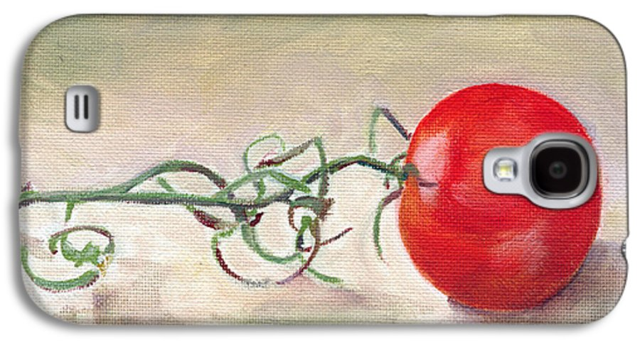 Food Galaxy S4 Case featuring the painting Hot-house Tomato by Sarah Lynch