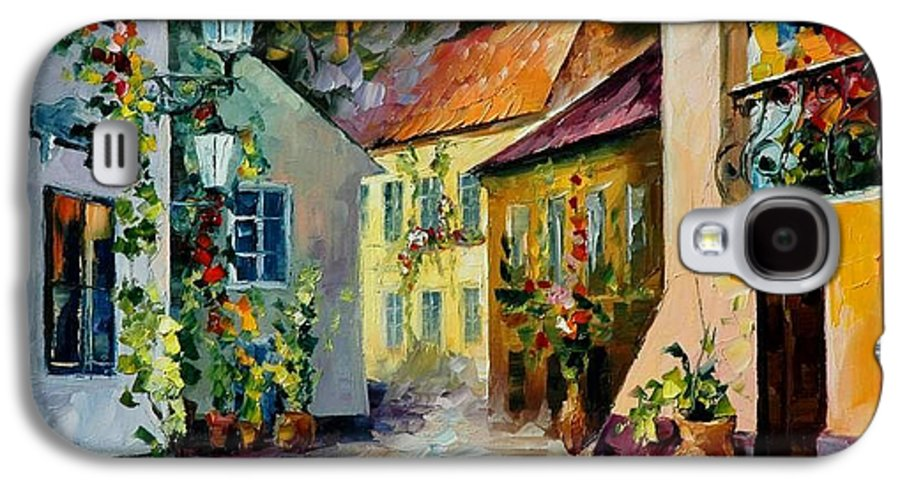 Landscape Galaxy S4 Case featuring the painting Hot Noon Original Oil Painting by Leonid Afremov