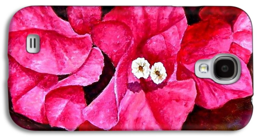 Oil Galaxy S4 Case featuring the painting Hot Pink Bougainvillea by Darla Brock