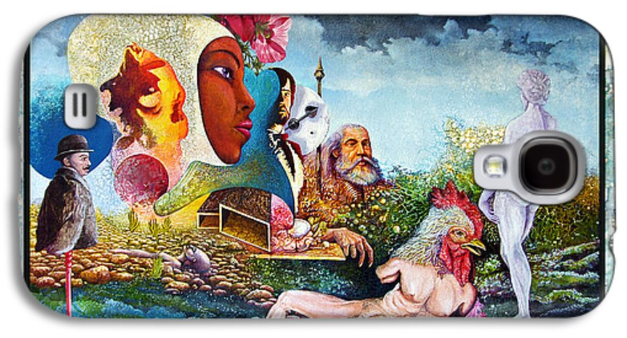 Surrealism Galaxy S4 Case featuring the mixed media Hour Of The Cock by Otto Rapp