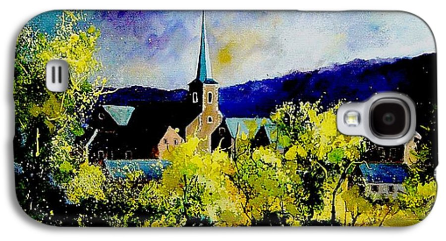 Poppies Galaxy S4 Case featuring the painting Hour Village Belgium by Pol Ledent