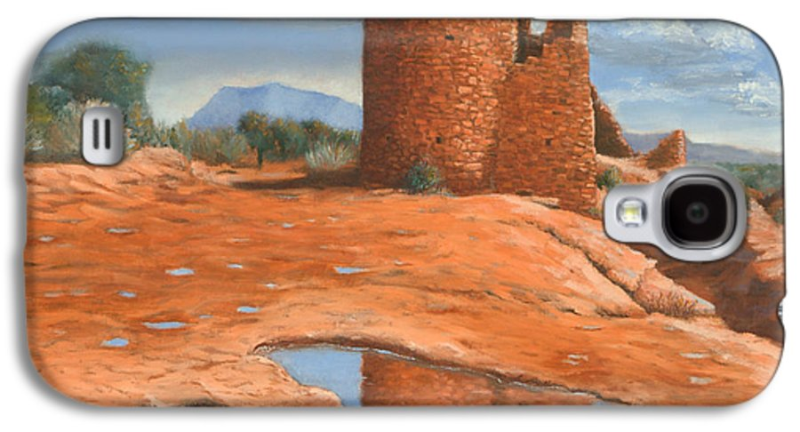 Anasazi Galaxy S4 Case featuring the painting Hovenweep Reflection by Jerry McElroy