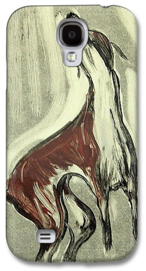 Monotype Galaxy S4 Case featuring the mixed media Howling For Joy by Cori Solomon