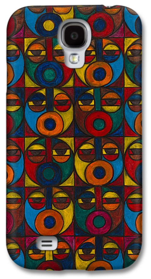 Galaxy S4 Case featuring the painting Humanity by Emeka Okoro