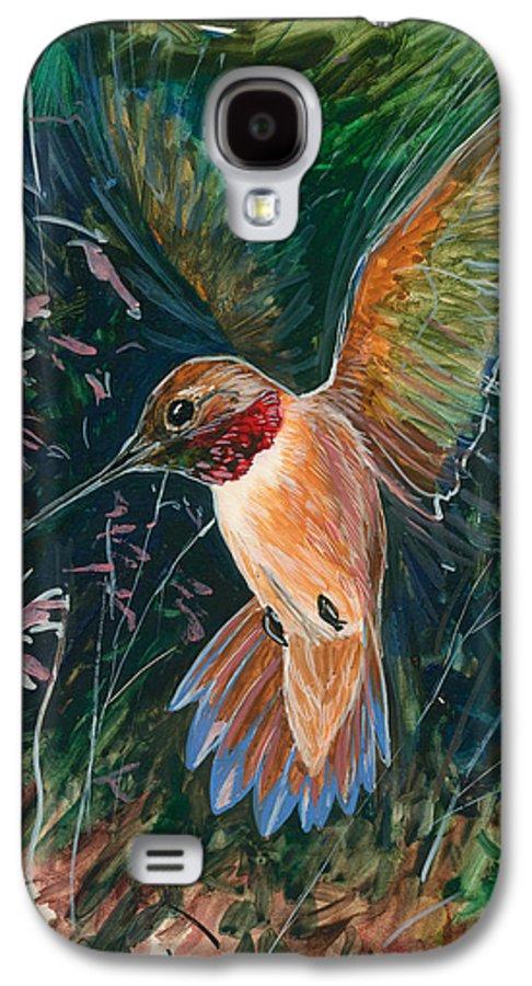 Hummingbird Galaxy S4 Case featuring the painting Hummingbird by Shari Erickson