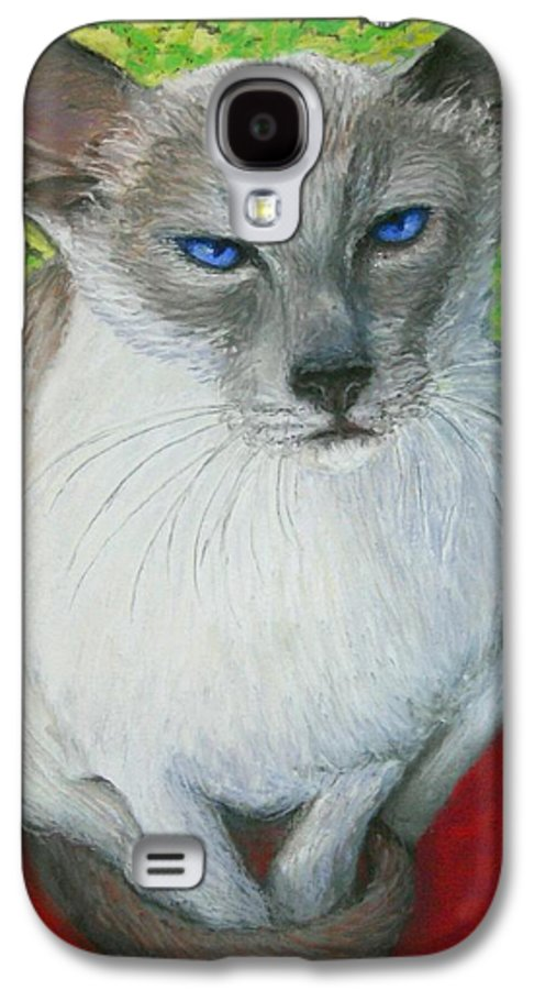 Siamese Galaxy S4 Case featuring the painting I Am Siamese If You Please by Minaz Jantz