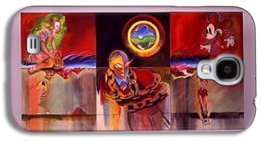 Spiderman Galaxy S4 Case featuring the painting I Saw The Figure Five In Gold by Charles Stuart