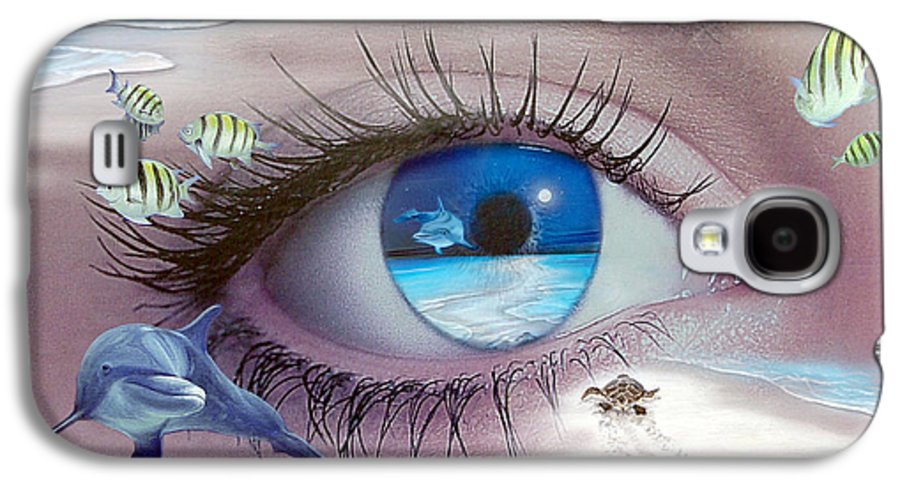 Dolphins Galaxy S4 Case featuring the photograph I Witness Testigo by Angel Ortiz