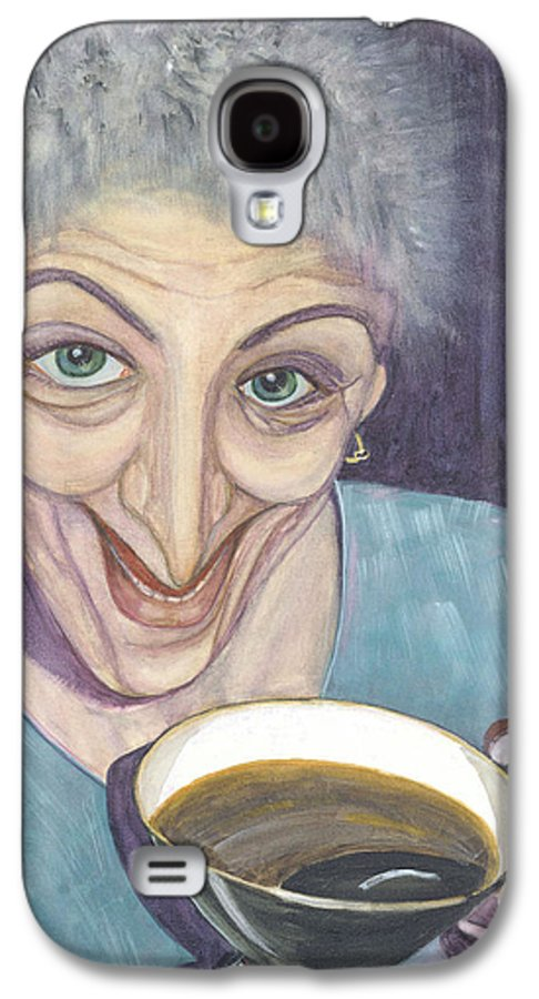 Portrait Galaxy S4 Case featuring the painting I Would Like To Try This One by Olga Alexeeva
