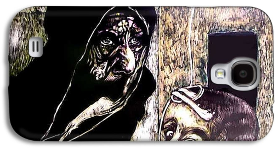 Darfur Galaxy S4 Case featuring the mixed media Ibhabitants Of The Precipice by Chester Elmore