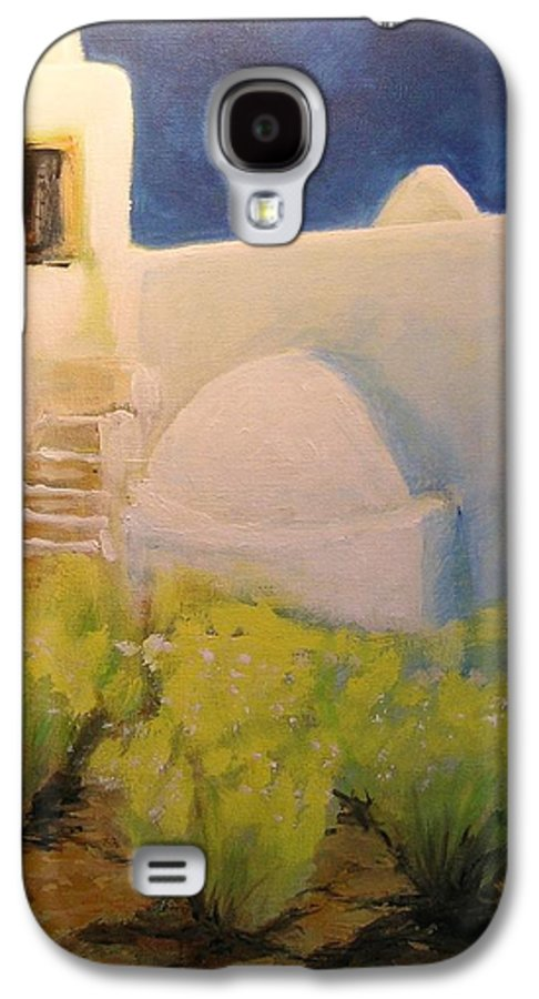 Landscape Galaxy S4 Case featuring the painting Ibicencan Country House by Lizzy Forrester
