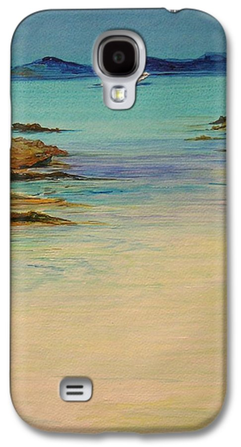 Seascape Original Painting Galaxy S4 Case featuring the painting Ibiza In The Distance.... by Lizzy Forrester