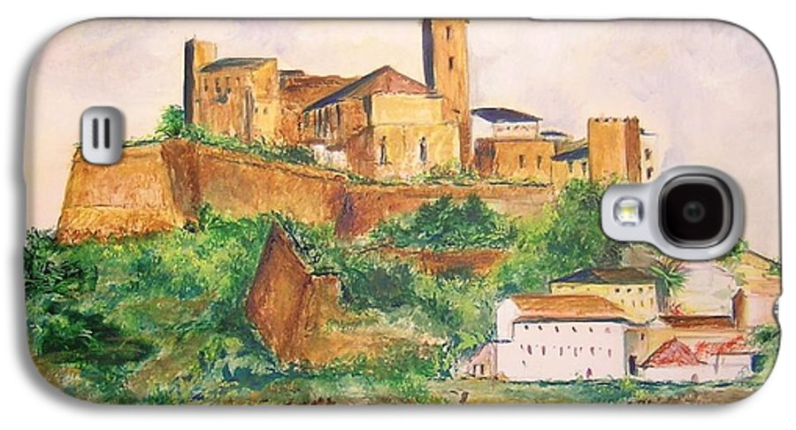 Landscape Galaxy S4 Case featuring the painting Ibiza Old Town Unesco Site by Lizzy Forrester