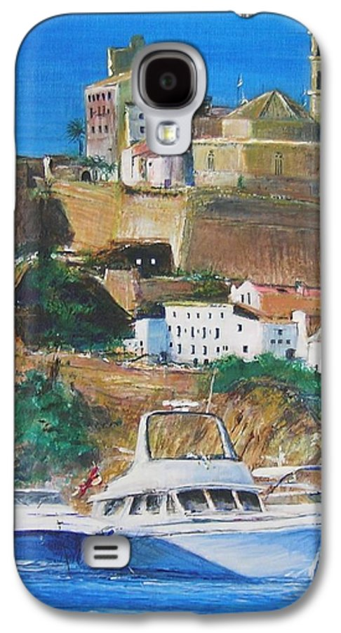 Original Landscape Painting Galaxy S4 Case featuring the painting Ibiza Town by Lizzy Forrester