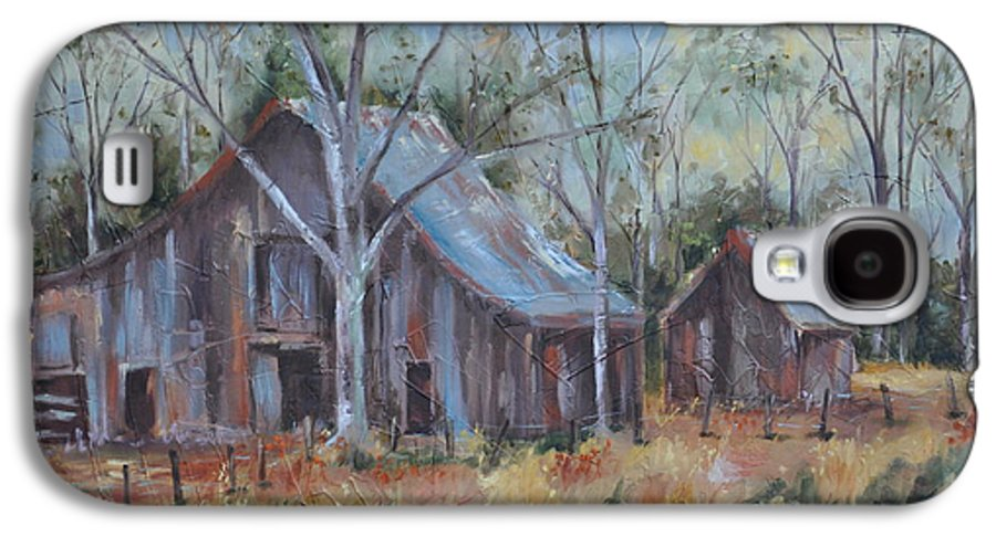 Barns Galaxy S4 Case featuring the painting If They Could Speak by Ginger Concepcion