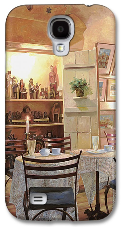 Cafe Galaxy S4 Case featuring the painting Il Caffe Dell'armadio by Guido Borelli