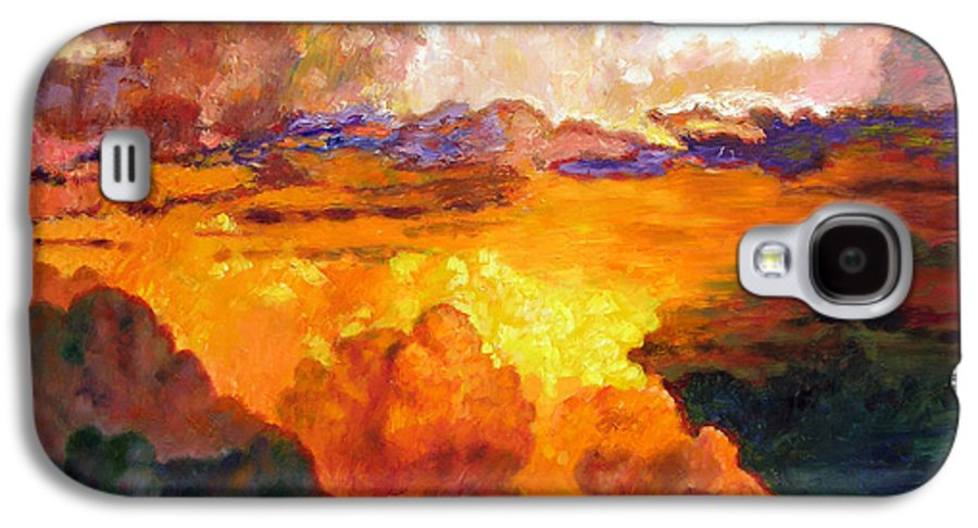 Clouds Galaxy S4 Case featuring the painting Ill Fly Away O Glory by John Lautermilch
